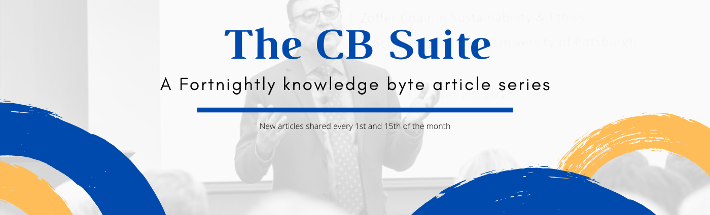 THE CB SUITE – Fortnightly knowledge byte series enabling sustainability ownership